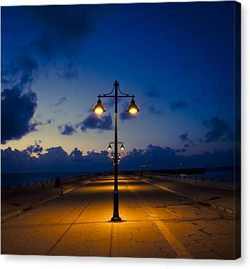 White Street Pier Lights Canvas Print