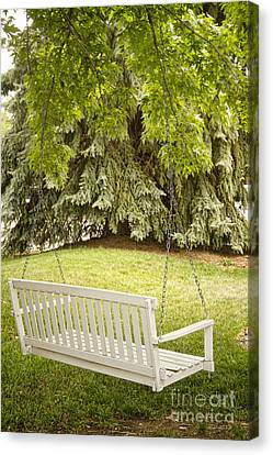 White Swing In The Green Canvas Print by James BO  Insogna