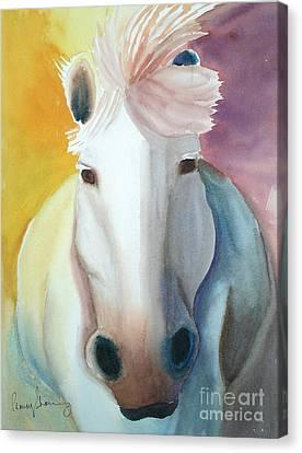 White Work Horse Canvas Print