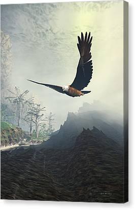 Whitelighter Canvas Print by Sipo Liimatainen