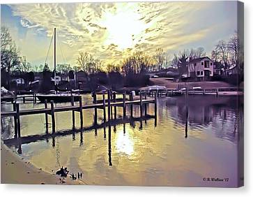 White's Cove In Winter Canvas Print by Brian Wallace