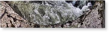 Whitewater And Rock Canvas Print by Gregory Scott