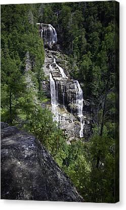 Dappled Light Canvas Print - Whitewater Falls by Rob Travis
