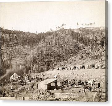 Whitewood Canyon, Wade And Jones R.r Canvas Print by Everett
