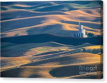 Whitman County Grain Silo Canvas Print by Sandra Bronstein