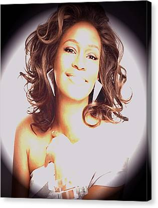 Whitney Houston Song Bird No. 3 Canvas Print by De Beall