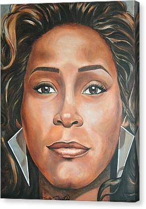 Portraits By Timothe Canvas Print - Whitney Houston by Timothe Winstead