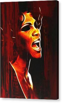 Whitneys Tears Canvas Print by Steve K