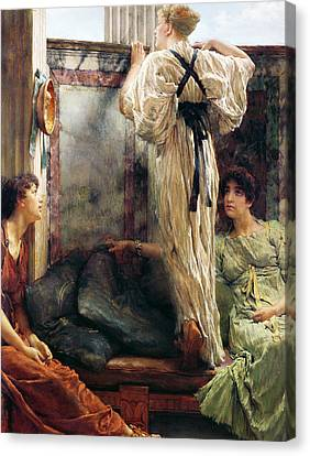Who Is It Canvas Print by Sir Lawrence Alma-Tadema