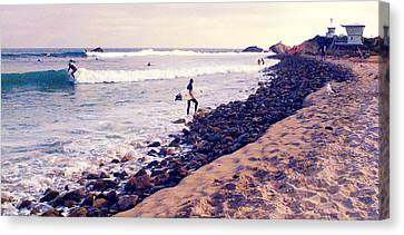 Why We Surf Canvas Print by Ron Regalado