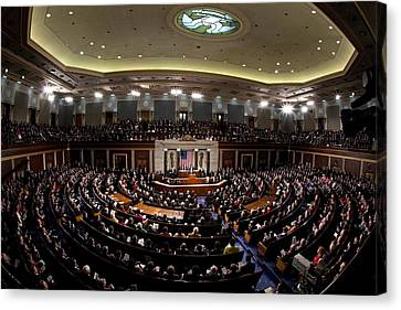 Wide Angle View Of The House Chamber Canvas Print
