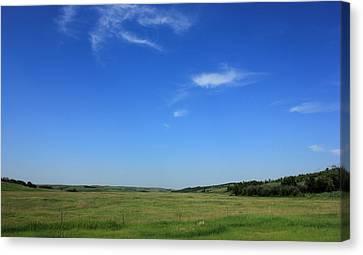 Wide Open Alberta Prairies Canvas Print
