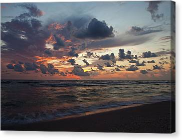 Wiggins Beach Summer Sunset. Canvas Print by Nick  Shirghio