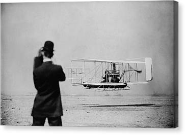 Observer Canvas Print - Wilbur Wright 1867-1912 Takes by Everett
