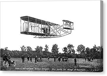 Wilbur Wright Flight Demonstration Canvas Print by Science Source