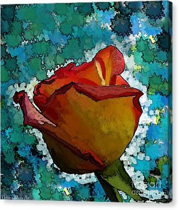 Wild And Crazy Rose Bud Canvas Print by Debbie Portwood