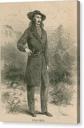 Wild Bill Hickok 1837-1876, Portrait Canvas Print by Everett