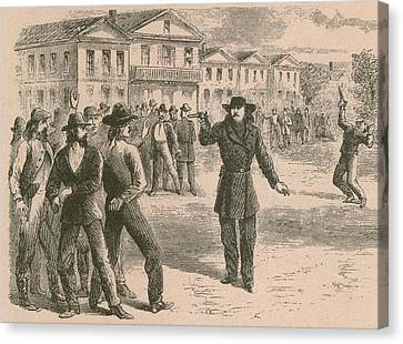 Wild Bill Hickok Was A Gunfighter Canvas Print by Everett