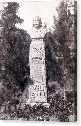 Wild Bills Monument. Wild Bill Hickok Canvas Print
