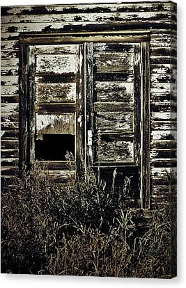 Old Barn Drawing Canvas Print - Wild Doors by The Artist Project