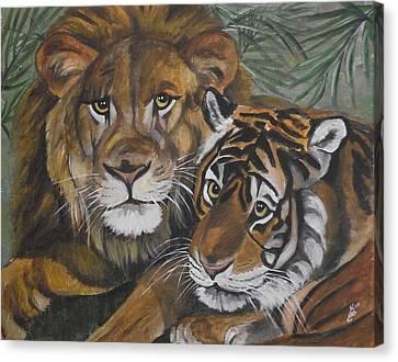 Wild Friends Canvas Print by Kim Selig