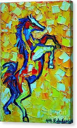 Wild Horse Canvas Print by Ana Maria Edulescu