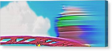 Wild Mouse Ride - Amusement Park Canvas Print by Steve Ohlsen