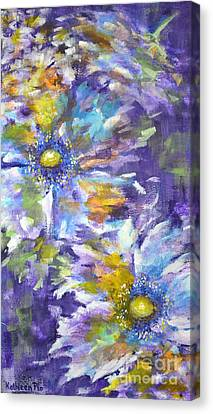 Wild Purple Roses Canvas Print by Kathleen Pio