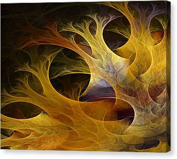 Expressionism Digital Art Canvas Print - Wild Trees by Lourry Legarde