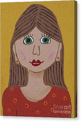 Wild Woman One Canvas Print by Marilyn West