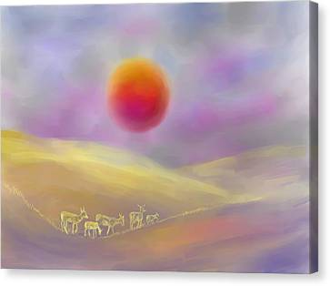 Wildfire Sunrise Canvas Print