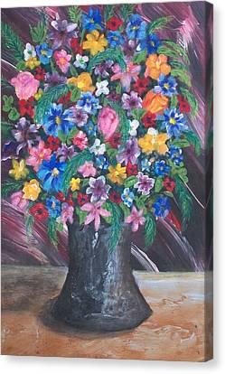 Wildflowers Canvas Print by Jeanette Stewart