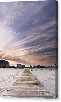 Wildwood Crest New Jersey Sunset Canvas Print by Dustin K Ryan