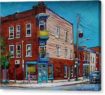 Wilensky's Light Lunch Plateau Montreal Canvas Print by Carole Spandau