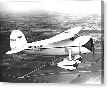 Wiley Posts Plane Winnie Mae Overhauled Canvas Print by Everett