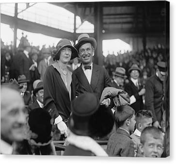 Will Rogers And Mrs. Ed Evalyn Mclean Canvas Print by Everett