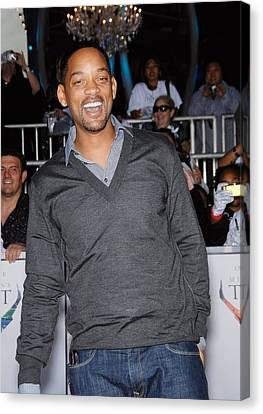 Will Smith At Arrivals For Michael Canvas Print by Everett
