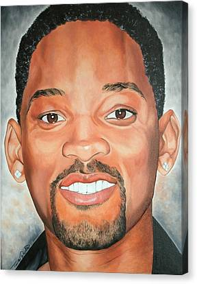 Portraits By Timothe Canvas Print - Will Smith by Timothe Winstead