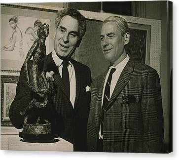 Willem De Kooning 1904-1997 Examining Canvas Print by Everett