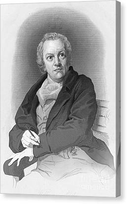 William Blake, English Poet And Painter Canvas Print by Photo Researchers