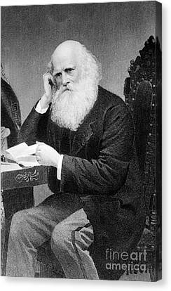 Bryant Canvas Print - William Cullen Bryant, American Poet by Photo Researchers