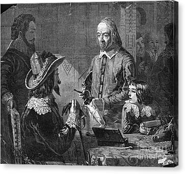 William Harvey, English Physician Canvas Print by Photo Researchers