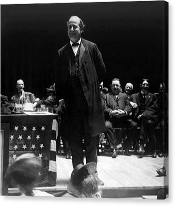 William Jennings Bryan Delivering Canvas Print by Everett