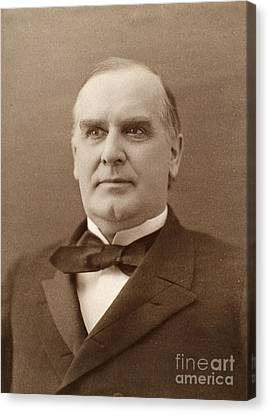 William Mckinley (1843-1901). 25th President Of The United States. Photographed In 1896 Canvas Print by Granger