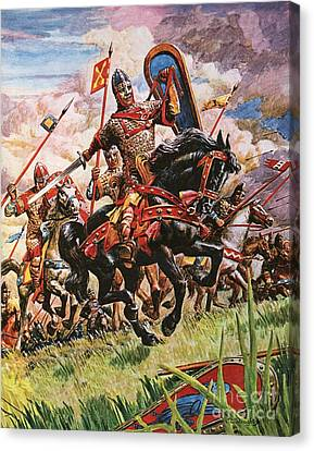 The Horse Canvas Print - William The Conqueror At The Battle Of Hastings by Peter Jackson