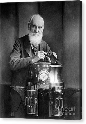 William Thomson, Lord Kelvin With His Canvas Print by Science Source