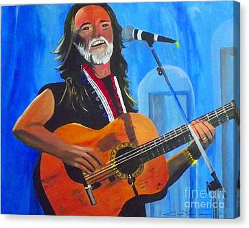 Willie Nelson Canvas Print by Jayne Kerr