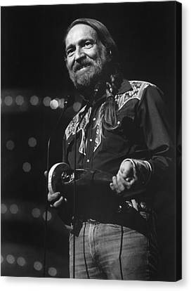 Willie Nelson, Cma Entertainer Canvas Print by Everett