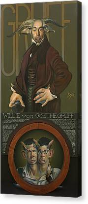 Yak Canvas Print - Willie Von Goethegrupf by Patrick Anthony Pierson