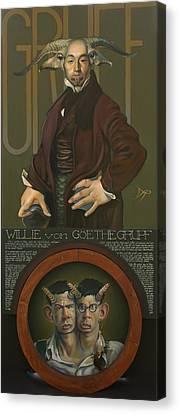 Willie Von Goethegrupf Canvas Print by Patrick Anthony Pierson